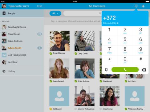 Skype iPad App