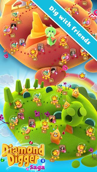 Diamond Digger Saga iPad App