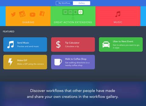 Workflow iPad App